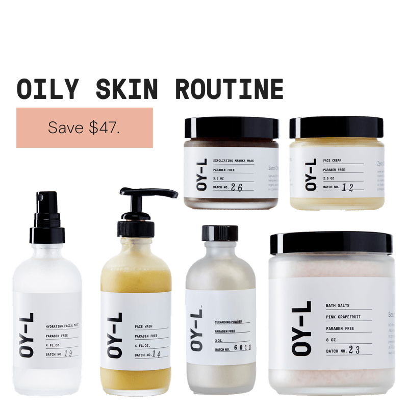 Oily Skin Routine by OY-L Natural Skincare