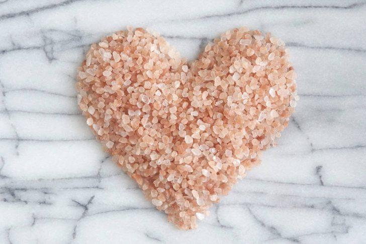 pink Himalayan salt heart